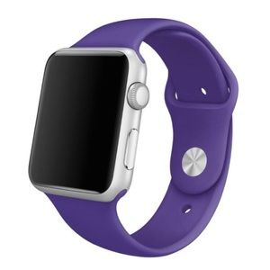 NEW Purple Silicone Sport Band For Apple Watch